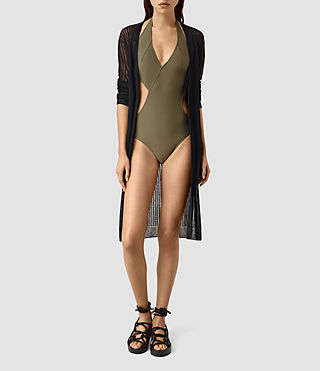 Womens Aurie Swimsuit (Khaki Green) - product_image_alt_text_1