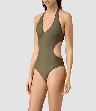 Women's Aurie Swimsuit (Khaki Green) - product_image_alt_text_3
