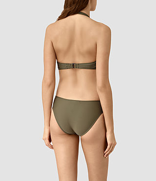 Women's Aurie Swimsuit (Khaki Green) - product_image_alt_text_4