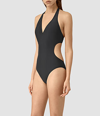 Womens Aurie Swimsuit (Black) - product_image_alt_text_3