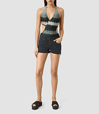 Womens Aurie Serpine Swimsuit (Blue)