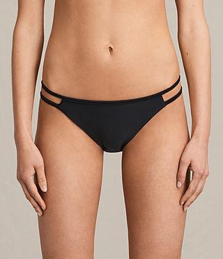 Mujer Cassia Bikini Bottom (Black) - product_image_alt_text_2