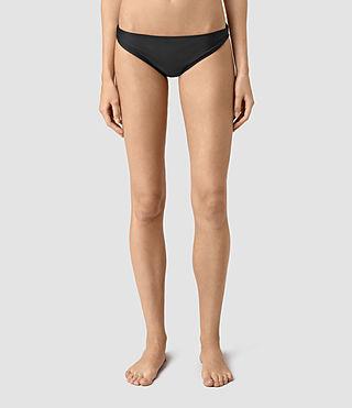 Mujer Ola Bikini Bottom (Black) - product_image_alt_text_2