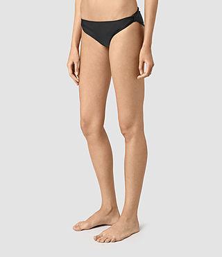 Mujer Ola Bikini Bottom (Black) - product_image_alt_text_3