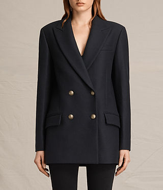 Womens Alice Nesi Coat (Ink Blue) - product_image_alt_text_2