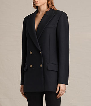 Womens Alice Nesi Coat (Ink Blue) - product_image_alt_text_5