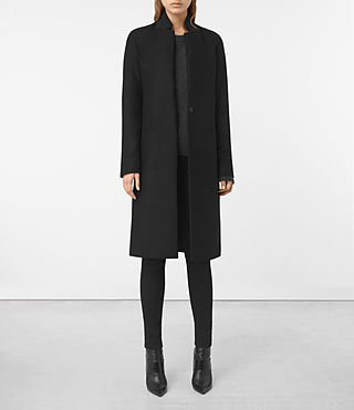 Womens Nehru Coat (Black)