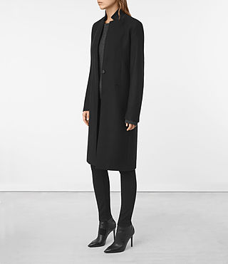 Mujer Nehru Coat (Black) - product_image_alt_text_3