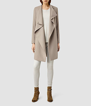 Womens Ora Coat (Taupe/Grey)