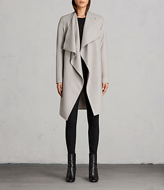 Femmes Manteau Ora (Pebble Grey) - Image 1