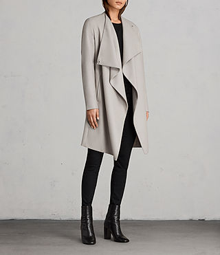 Femmes Manteau Ora (Pebble Grey) - Image 3