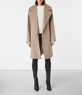 Womens Indira Coat (Oat)