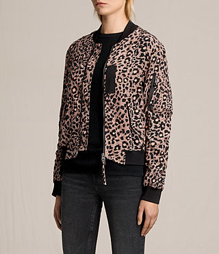 Donne Bomber in seta Ella Lyos (BLUSH PINK) - product_image_alt_text_3