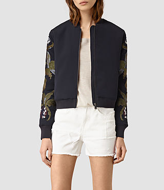 Womens Anya Bomber Jacket (Ink Blue) - product_image_alt_text_1