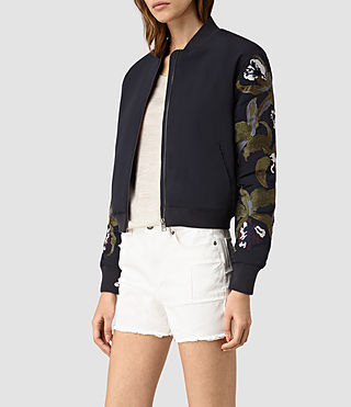 Mujer Anya Bomber Jacket (Ink Blue) - product_image_alt_text_2