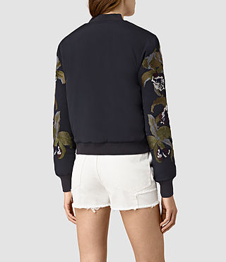 Mujer Anya Bomber Jacket (Ink Blue) - product_image_alt_text_3