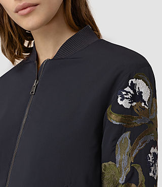 Womens Anya Bomber Jacket (Ink Blue) - product_image_alt_text_4