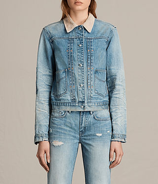 Womens Serene Denim Jacket (VINTAGE INDIGO BLU)