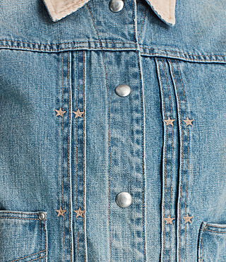 Womens Serene Denim Jacket (VINTAGE INDIGO BLU) - product_image_alt_text_2