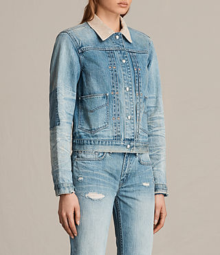 Womens Serene Denim Jacket (VINTAGE INDIGO BLU) - product_image_alt_text_3