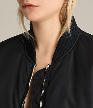 Mujer Bomber Anika Gilet (Black) - product_image_alt_text_2