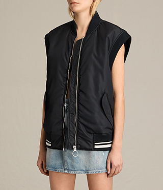 Mujer Bomber Anika Gilet (Black) - product_image_alt_text_3