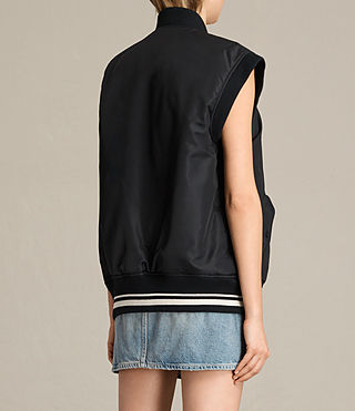 Mujer Bomber Anika Gilet (Black) - product_image_alt_text_5