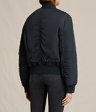 Damen Bree Laced Bomber Jacket (Ink Blue) - product_image_alt_text_4