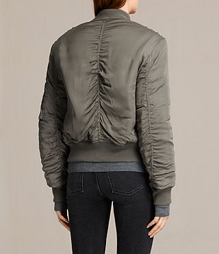 Mujer Bomber con blonda Bree (DARK SAGE GREEN) - product_image_alt_text_5