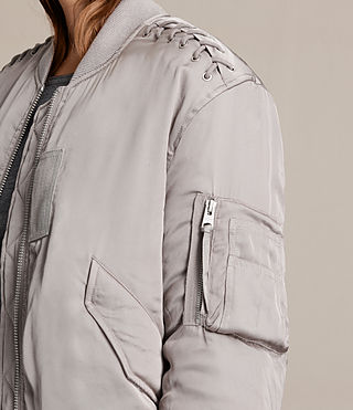 Women's Bree Laced Bomber Jacket (ALMOND PINK) - product_image_alt_text_2