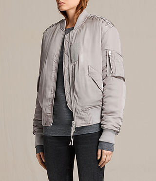 Women's Bree Laced Bomber Jacket (ALMOND PINK) - product_image_alt_text_3