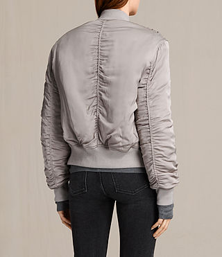 Women's Bree Laced Bomber Jacket (ALMOND PINK) - product_image_alt_text_5
