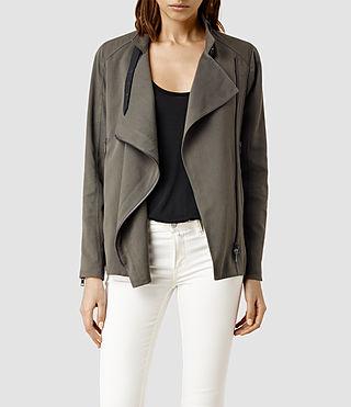 Womens Wren Biker Jacket (Khaki)