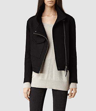 Womens Klade Cropped M65 Jacket (Black)