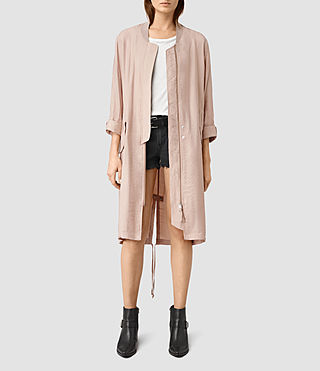 Womens Elio Bomber Parka Coat (Dusty Pink)
