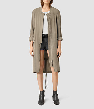 Mujer Elio Bomber Parka Coat (DARK SAGE GREEN) - product_image_alt_text_1