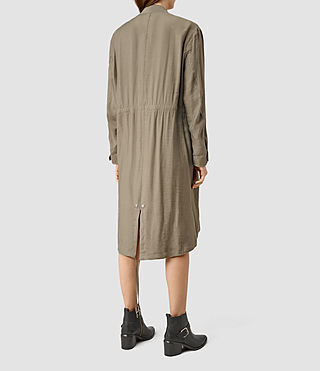 Mujer Elio Bomber Parka Coat (DARK SAGE GREEN) - product_image_alt_text_3