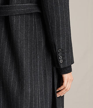 Damen Sienna Stripe Coat (Charcoal Grey) - product_image_alt_text_5