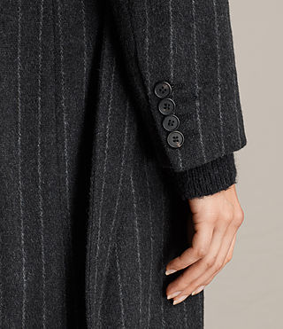 Damen Sienna Stripe Coat (Charcoal Grey) - product_image_alt_text_6