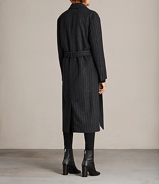 Mujer Sienna Stripe Coat (Charcoal Grey) - product_image_alt_text_7