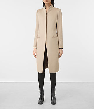 Womens Odile Coat (SAND BROWN)