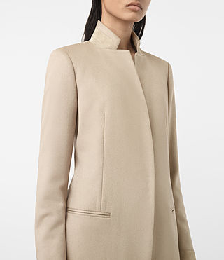 Womens Odile Coat (SAND BROWN) - product_image_alt_text_2