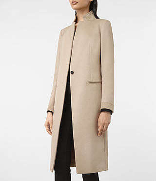 Womens Odile Coat (SAND BROWN) - product_image_alt_text_3