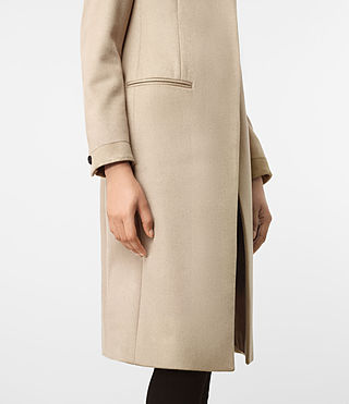 Womens Odile Coat (SAND BROWN) - product_image_alt_text_4