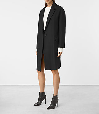 Damen Sancia Nesi Coat (Black) - product_image_alt_text_2