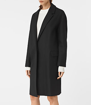 Damen Sancia Nesi Coat (Black) - product_image_alt_text_4