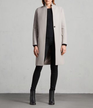 Womens Evelyn Coat (MOTH GREY) - Image 1
