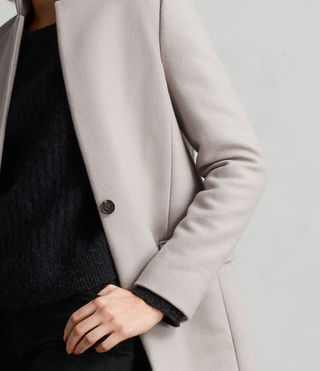 Womens Evelyn Coat (MOTH GREY) - Image 2