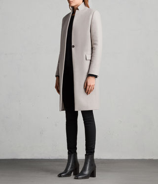 Womens Evelyn Coat (MOTH GREY) - Image 3