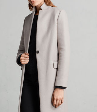 Womens Evelyn Coat (MOTH GREY) - Image 5